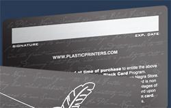 Панель для подписи на пластиковой карте